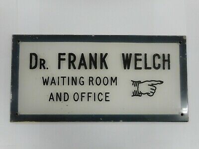 Vintage Doctors Waiting Room & Office Sign Lettering & Hand Incised To Plastic