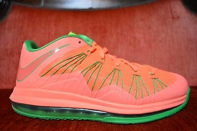 new arrival d1849 d6be5 VNDS Nike Air Max Lebron X 10 Low WATERMELON 579765 801 Pink Green MANGO  Orange