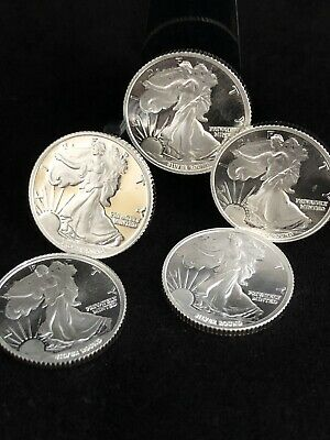 LOT OF 5 - 1/10oz MONEY METALS .999 SILVER ROUNDS - INVESTOR BULLION PACKAGE