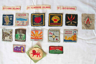 Scout memorabilia Set of 13 Tasmanian district badges +more from 1960s