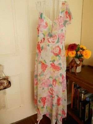Retro Longer Length Dress By Lovers Australia With A Scarf Hemline & Fully Lined