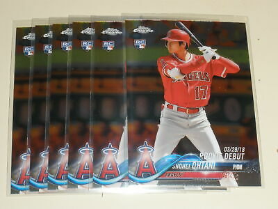 Lot Of (6) Shohei Ohtani 2018 Topps Chrome Update Rookie Rc #hmt32 Angels