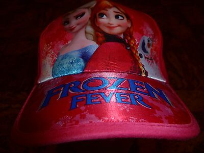 Girls frozen Elsa, Anna and Olaf cap. size 50 cm. adjustable. 6-7 years old.