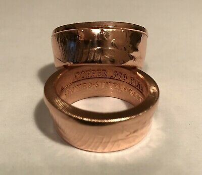 Usa Large 999 Fine Copper Coin Ring Size: 14, 14.5, 15. No Reserve!!