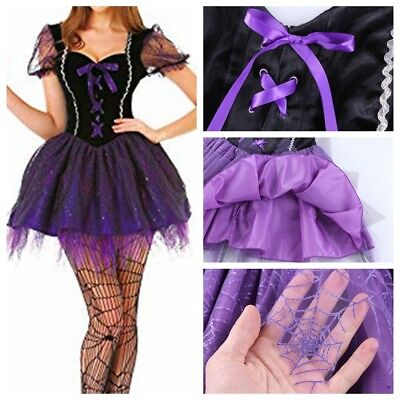 Women Halloween Costume Wicked Witch Cosplay Sexy Fairytale Dress Tulle Skirt #L