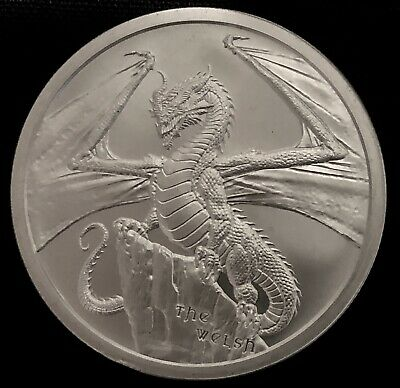 The Welsh 1 Oz Silver Round - 2Nd Release World Of Dragons Series .999 Fine Bu