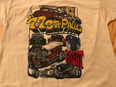 Vintage DAVE BELL 1977 NSRA Minnesota Street Rod Nationals t-shirt.  Never worn