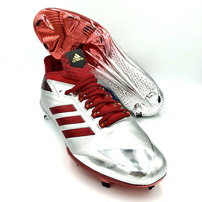 on sale 60ea3 585cf Adidas Adizero Afterburner 4 Red Silver Mens Baseball Cleats  BY3676  Size  14