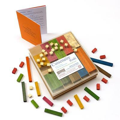 ARITHMETIC help! 272 Wooden CUISENAIRE Rods for PRIMARY SCHOOL + PARENT GUIDE