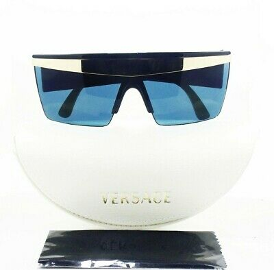 59066df93a Rare Vintage Gianni Versace Sunglasses Blue Mask Made In Italy With Box