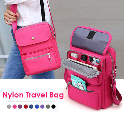 Women Men Nylon Travel Crossbody Bag Shoulder Bag Travel Passport Handbag Pack