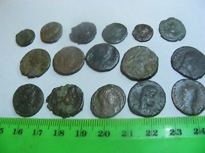 Lot of 16 Ancient Roman Coins in Clear Plastic Capsules,Retail about $380.00.