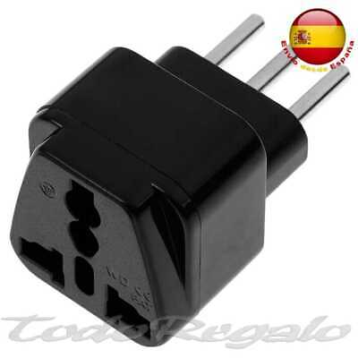Adaptador Enchufe de UK Ingles Europeo Ue Asia USA EEUU a Italiano Adapter Red