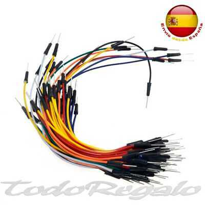 Lote 65 Cables Protoboard Jumper Prototipos Cable Macho a Macho Arduino STM32