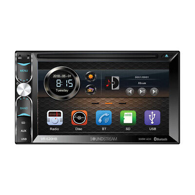 Soundstream VR-620HB DVD/CD Player Front Rear Camera Bluetooth USB Android Link