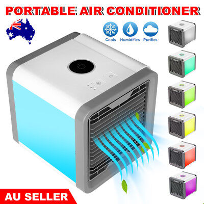 Chill Portable Air Cooler Conditioner Cool Cooling For Bedroom Mini Fan USB AU