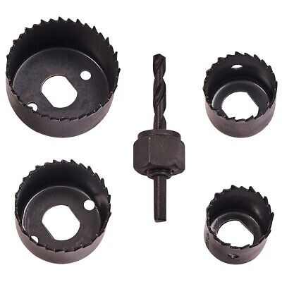 5Pc HOLE SAW KIT Metal 32mm - 54mm Circle Cutter Drill Wood/Plasterboard Ceiling