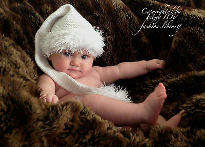 fead543112f 0-6 MONTHS ELF Hat Long Tail Baby Girl Photography Photo Prop ...