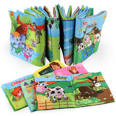 Intelligence Development Soft Cloth Cognize Book Educational BB Rattle For Baby