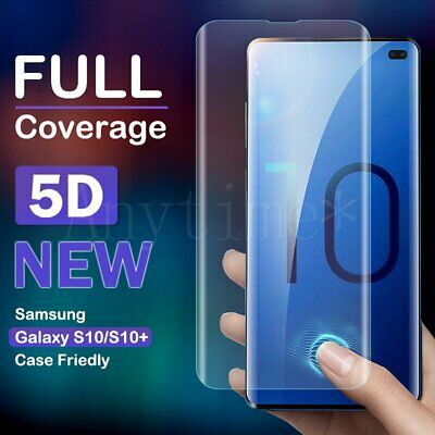 For Samsung Galaxy S8 S9 S10 Plus 5D Full Cover TPU Soft Clear Screen Protector