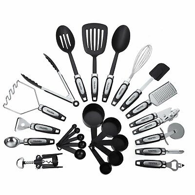 25-Piece Kitchen Tool &Utensil Set, Cooking Gadgets, Stainless Steel & Nylon NEw
