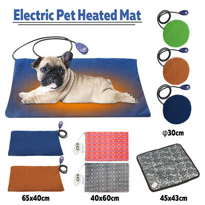 AU 4 TypeWaterproof Electric Cat Dog Pet Heating Pad Heated Mat Thermal Bed