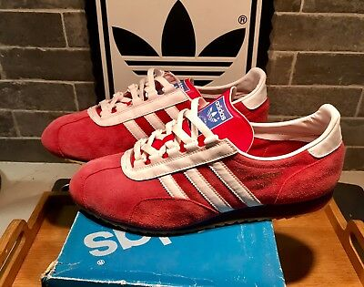 ffd30cba9aa8 Rare Adidas Achill Trainers UK. 11 OG Red Suede VGC vintage Trx special  spezial