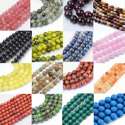 8mm Semi Precious Gemstone Round Bead Jewellery Making approx 44-50 Pieces