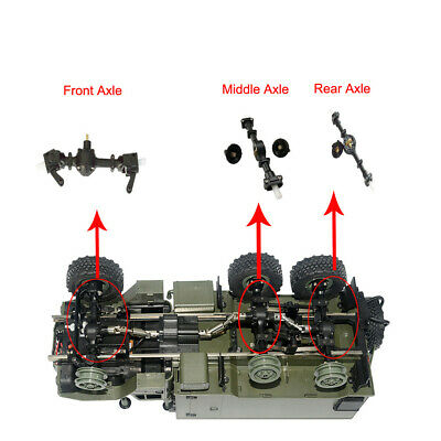 Metal Gear Sturdy Front+Central+Rear Axle Assembly Spare Part For WPL B36 B16 A