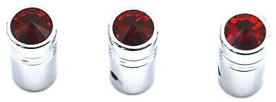 "toggle switch extensions(3) 1"" red jewel chrome for Freightliner Kenworth flat"