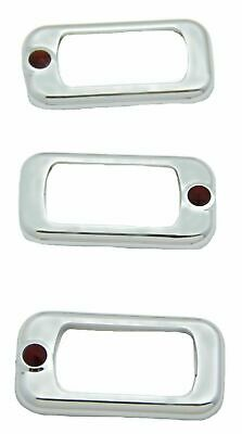 rocker switch trims(3) red jewel chrome plastic Freightliner Kenworth Peterbilt