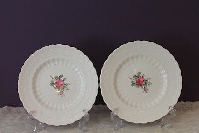 "2 Copeland Spode Billingsley Rose 6-1/4"" Bread And Butter Plates"