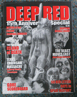 Deep Red Fanzine 15th Anniversary Special Chas Balun, Horror 2002 Video Nasty
