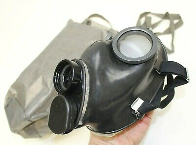 Genuine Unissued Swiss Army Gas Mask + Sealed Filter & Bag