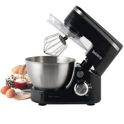 Beldray 800W Black Stand Mixer Whisk, Beater and Dough Hook Attachment EK3007BAZ