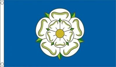 Yorkshire 8ft x 5ft Giant Flag York County British English Counties - 2 Eyelets