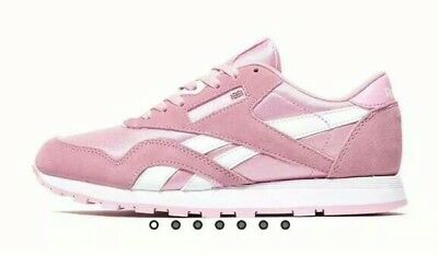 e60103e839f9 Reebok Classic CL Nylon Junior  ladies Trainers Size  5