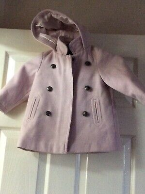 Baby Girls Hooded Coat Pink 12.18 Months Next