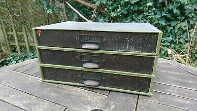 vintage retro 3 drawers filing desk top box cabinet fits A4 faux snakeskin paper