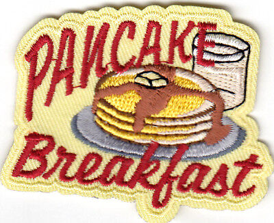 PANCAKE BREAKFAST Iron On Patch Food Fund Raiser