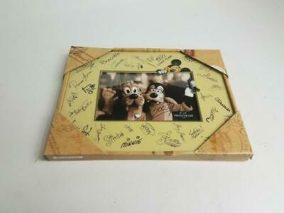 """Disney Parks Character Autographs Signatures Photo Frame 4""""x6"""" In Box"""