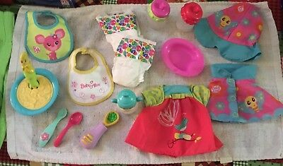 HUGE 17 pc LOT OF COLLECTIBLE BABY ALIVE REPLACEMENT PIECES
