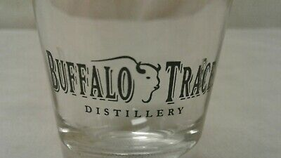 Buffalo Trace Bourbon Whiskey - Promo Branded Glass Barware Shotglass Shot Glass