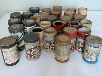 Antique Phonograph Cylinders & Boxes - Large Job Lot!