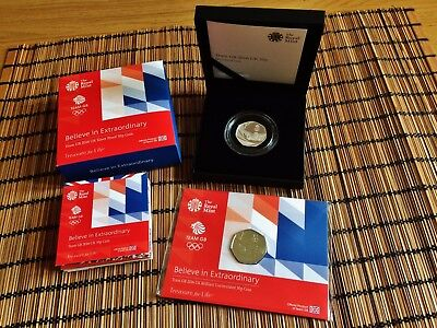 2016 50p 50 PENCE TEAM GB SILVER PROOF COIN or BUNC BU PRESENTATION PACK
