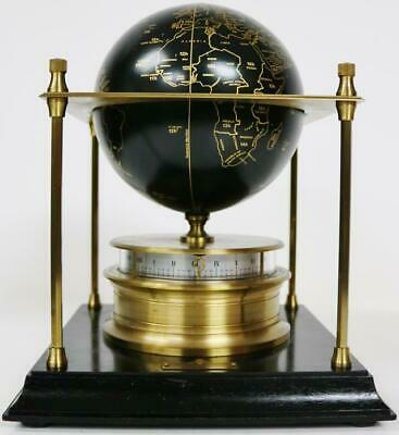 "The Royal Geographical Society ""World Clock"", Mystery Swiss Globe Table Clock"