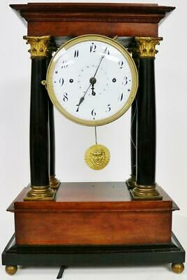 Rare Antique Austrian 8 Day 1/4 Grande Sonnerie Musical Portico Mantel Clock