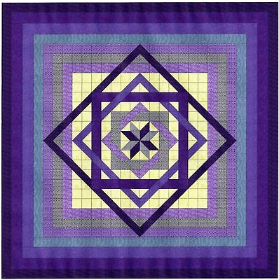 LABRINTH IN PURPLES QUILT TOP - Not Quilted, Made in the USA