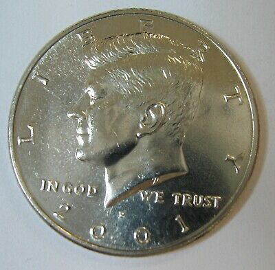 2001-P John F Kennedy Clad Half Dollar Choice BU Condition From Mint Set  DUTCH