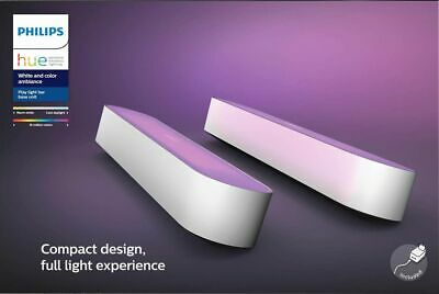 Philips - Hue Play White & Color Ambiance Smart LED Bar Light (2-Pack) - White